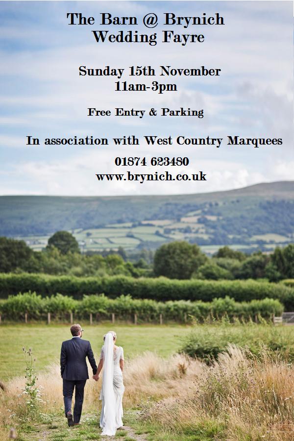 Barn At Brynich Wedding Fayre Sunday 15th November Fyi Brecon
