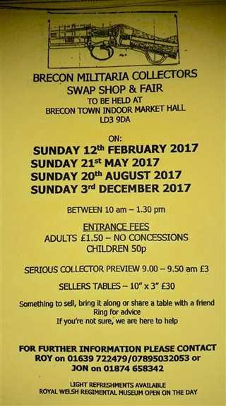 Brecon militaria collectors swop shop & Fair
