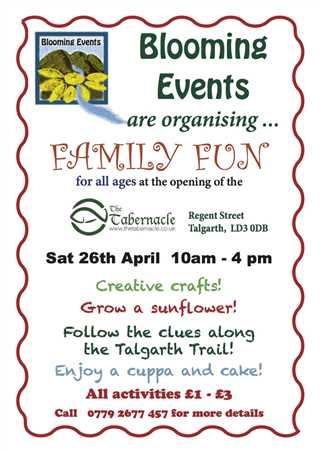 Fun And Crafts For All The Family At The Tabernacle Talgarth With