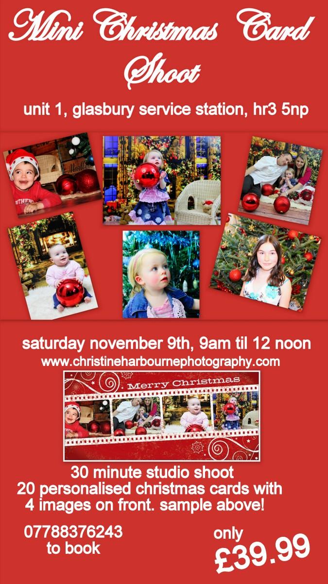 christmas card photoshoot at glasbury studio